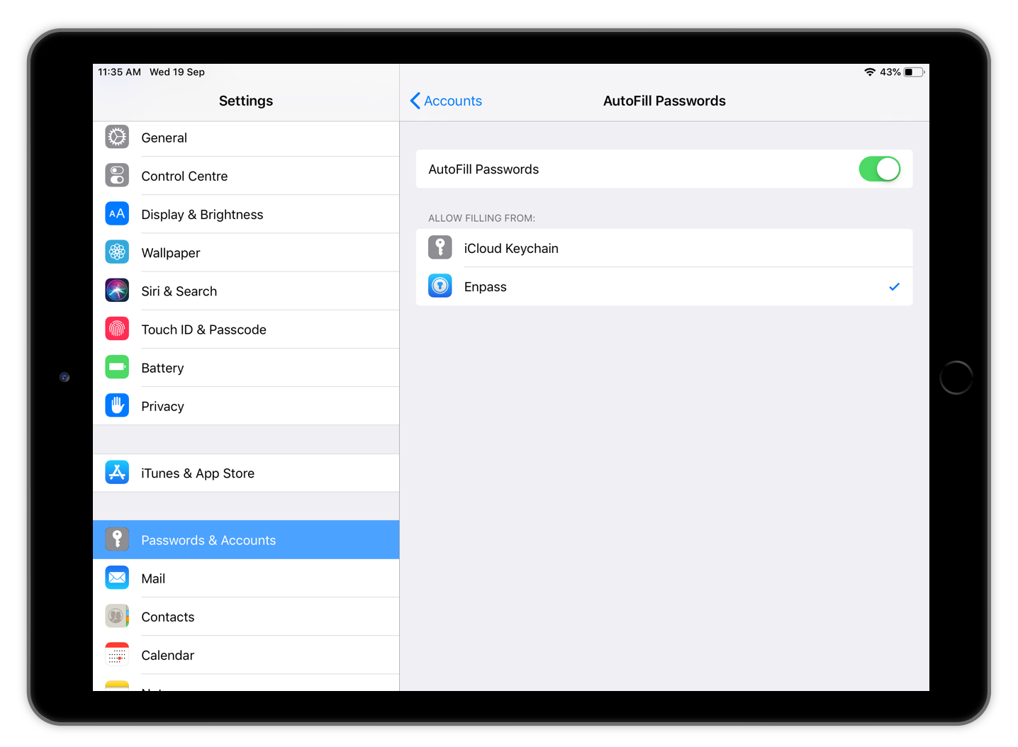 Introducing Enpass 5 6 0 for iOS 12 with Password Autofill